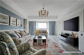 简单美式客厅吊灯图片