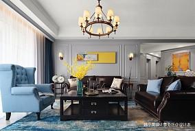 低奢新美式客厅吊灯图片