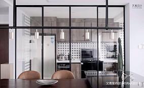 现代复古厨房实景图片