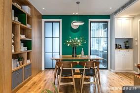 老师的家 | 全面墙书柜客厅+隐形门设计_3752551