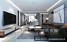郑州康桥悦城125平三室装修后现代风格_3857887