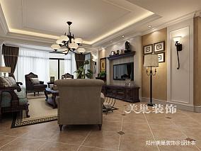 郑州帝华宏府装修117平三室两厅简欧风格_3903389
