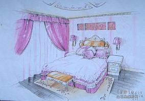 卧室白色柔性天花