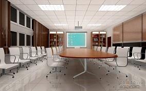 电子工厂会议室效果图