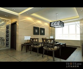 简美三室两厅两卫样板间图片