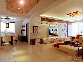 低调一百平米三居室装修图
