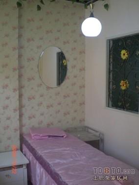 居家感二室一厅一卫一厨效果图