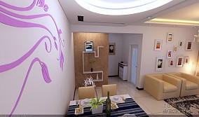 白色客厅小书房装修设计