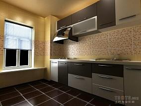 精美90平方三居厨房混搭装修图片欣赏