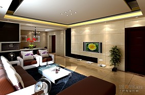 精选104平米3室客厅混搭装修设计效果图片欣赏