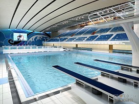 体育馆设计-游泳馆