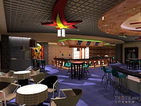 时尚酒吧餐厅装修效果图
