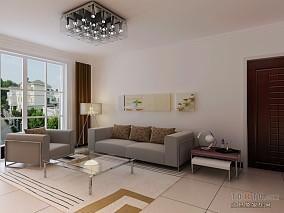 精选105平米3室客厅混搭装修设计效果图片欣赏