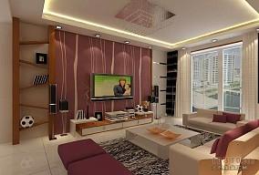 热门混搭3室客厅装修设计效果图片93.77平