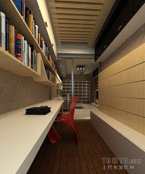 精选71平米混搭小户型书房装修设计效果图片大全