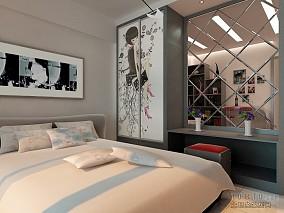 现代简约别墅卧室装修