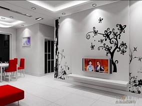 美式混搭小户型客厅效果图