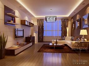 现代90平方3室1厅效果图