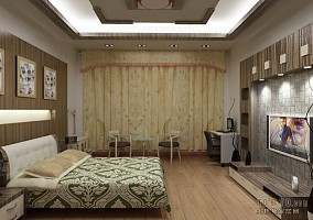 热门小户型卧室混搭实景图片