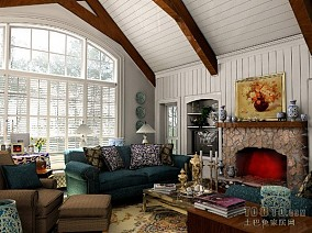 热门120平方四居客厅混搭装修效果图片