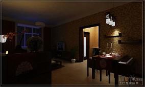 面积106平中式三居装修欣赏图片