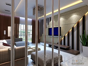 简约时尚30平北欧卧室客厅一体装修图