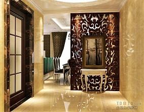 现代70平方米两室一厅效果图