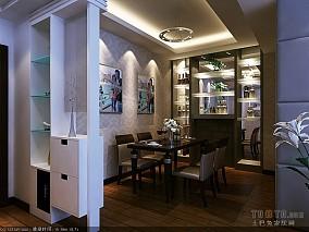 质朴40平混搭小户型餐厅效果图片大全