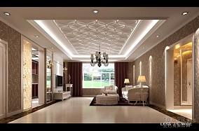 现代复古110平米装修设计客厅图片