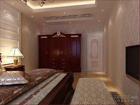 卧室实木壁柜床图片