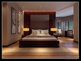温暖现代中式大厅设计图片