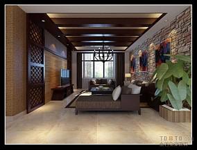 优雅现代中式大厅设计图片