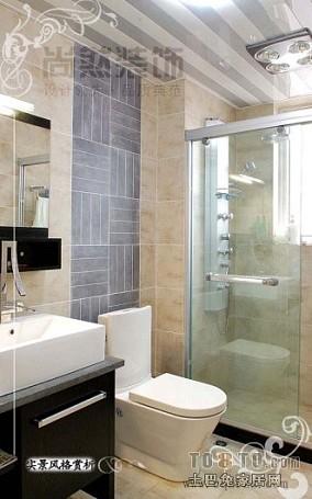 精美面积74平小户型卫生间欧式实景图片欣赏