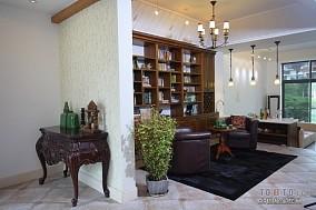 热门120平米混搭复式客厅装修效果图片