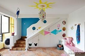 入户花园创意吊顶装修效果图 可爱的楼梯收纳柜设计图片