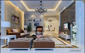 家装欧式别墅客厅装修效果图