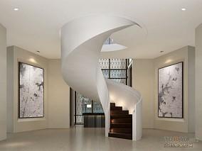 高档会所楼梯设计