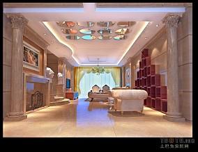 客厅水晶玄关吊顶造型