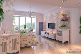 精美128平米四居客厅混搭装修设计效果图片欣赏