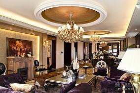 面积139平复式客厅欧式装修图
