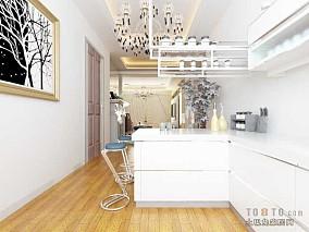 现代45平米一室一厅装修客厅图片
