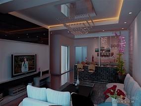 清新美式混搭客厅装潢