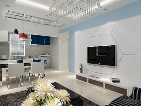 2018精选86平米混搭小户型客厅装修图片大全