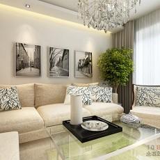 白色简约客厅装修效果图