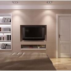 现代简约卧室背景墙装修