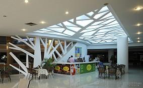 商场天花装饰实景图