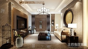 2018精选面积115平中式四居客厅装修欣赏图