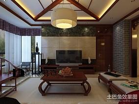2018面积113平中式四居客厅装修欣赏图