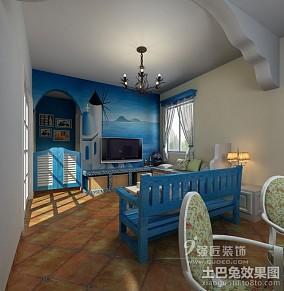 热门地中海一居客厅装修图片欣赏