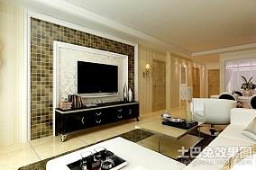 热门93平米三居客厅简约装修设计效果图片